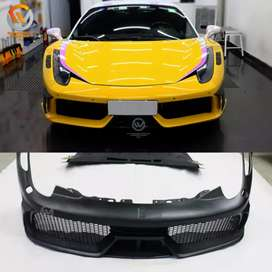 FRP Hood Bonnet Fit For Ferrari F458 Speciale-Style Front Bumper Kit