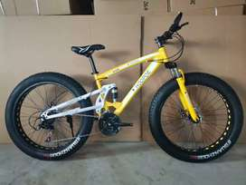 New fat tyre cycles with shimano 21 gears
