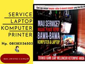 Service komputer laptop dan printer.