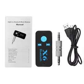 Bluetooth Aux Audio Receiver Mobil - Black ( Bisa COD )