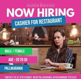 Cashier for restaurant - Pallikaranai