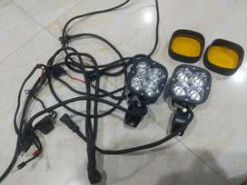 Hjg 60 watt Cree led fog lamps with plug and play system.