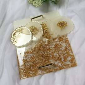 Resin tray and coasters