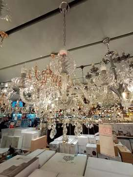 KREDIT PENDANT LAMP BASILANO 6L CHROME GLASS