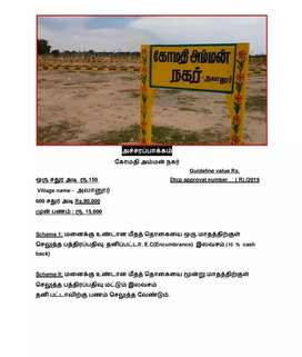 Land sale @ Acharapakkam at low cost