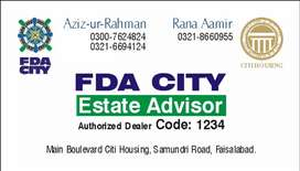 10 marla residential plot 268 D3 FDA City