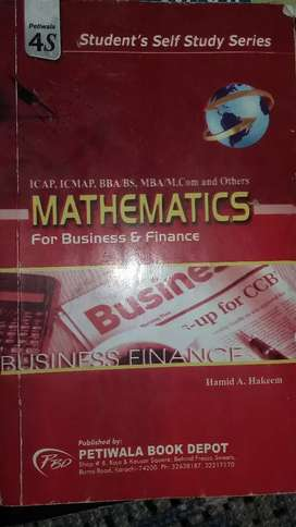 Mathematics for business and finance