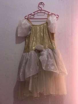 dress anak white gold