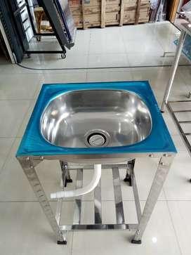 Jual kitchen sink / bak cuci piring 1 lobang kaki