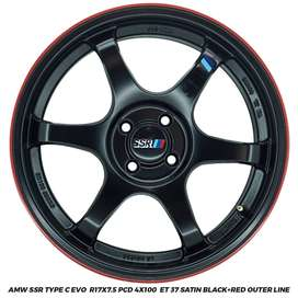VELG RACING AMW SSR TYPE C EVO R17X7.5 4X100 ET.37 BRIO YARIS AGYA