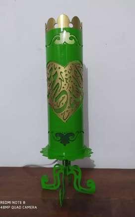 Lampu hias motif kaligrafi