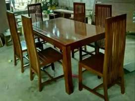 meja makan minimalis polos k6