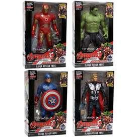 Robot Avenger 2 Set Of 4 Captain America, Hulk, Iron Man, Thor