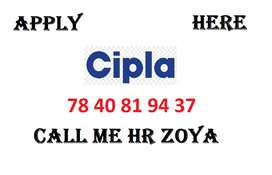 Cipla company full time apply in helper, store keeper, supervisor