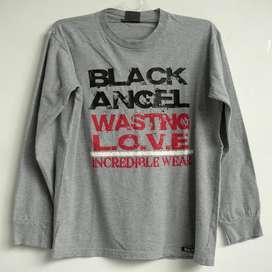 Kaos Warna Grey Size M Preloved