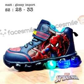 Sepatu anak laki laki spiderman 28-33