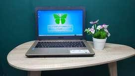 Laptop Sekolah Asus X441M Pentium N4000 Body Glossy Elegant