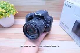 Canon 200D kit 18-55 is stm Likenew fullset murah