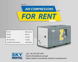 Atlas Copco 355 KW Compressor on Rent for Textile Industries