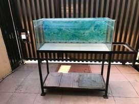 Kaca Aquarium & meja set