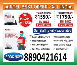 Buy New Airtel Dth Connection Best Price Dish Tv Smart box All India