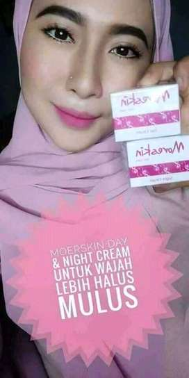 moreskin skin care night cream kosmetik herbal perawatan wajah