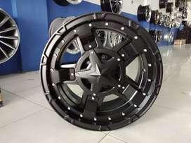 Velg offroad model Rasta 3 ring 17 untuk pajero fortuner dll
