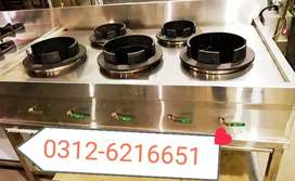 Commercial Chinese stove table 5 burners