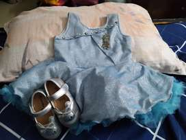 Princess party dress for 1 year with shoes