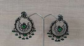 Silver 925 purity chandbali earrings