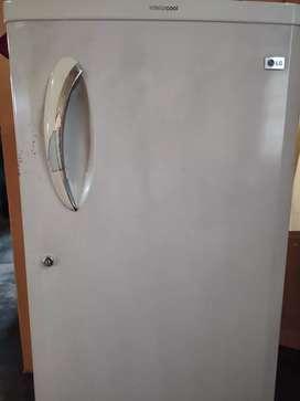 White LG fridge