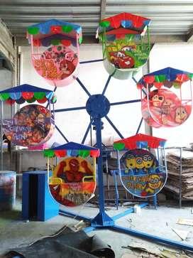 kincir-kincir mini gerobak wahana permainan pasar malam odong L05