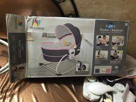 Mastella 5 in 1 rocker n bassinet For sale