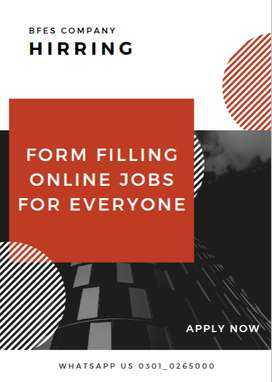 Online Form filling jobs are available in Pakistan apply now from home