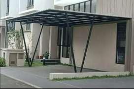 Kami bengkel las nerimah pembuatan kanopi atap alderon $$1126