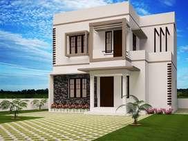 5.7 cent Villa available at Menamkulam