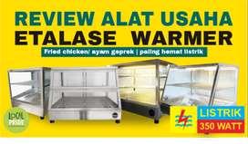 etalase pemanas penghangat ayam goreng fried chicken 350 watt Padang