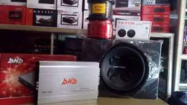 Power 4 chnl+Subwoofeer 12 inchi double coil+Box sub+Tweter+Psng