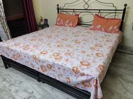 Double bed with box 6ft by 6ft.