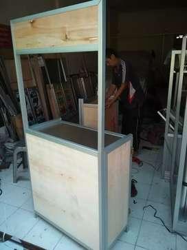 Etalase Meja Lipat/ Booth Portable