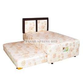 Springbed Spring Bed Kasur 2in1 uniland 100x200 standard Hb chrysant