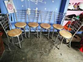 Chairs set of 6 (Fixed price)