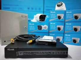 Paket CCTV spek lengkap biaya irit HIKVISION 4 channel 2 mp