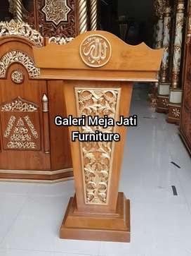 Mimbar Masjid E645  podium doof minimalis