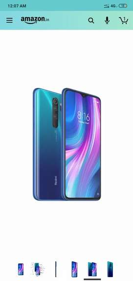 Redmi note 8 pro sealed pack 6/64 blue