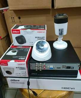 Paket lengkap 2 kamera cctv Dahua 2 Mp Gratis pasang terima beres