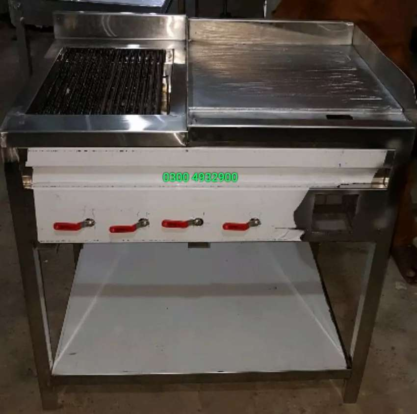 Grill plus hot Plate 2by3 fitted with stone 0