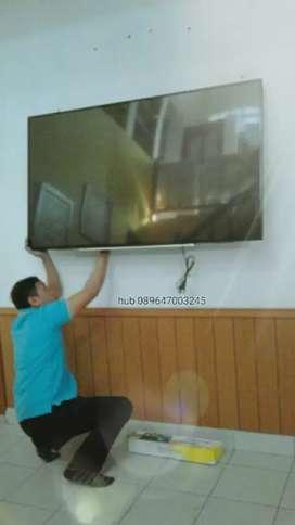bracket briket tv led lcd untuk gantungan pengait di tembok dinding