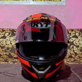 Helm Full Face KYT Fallcon 2 Faster Red