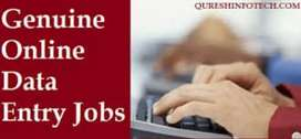 Data entry work at home part time interested person can apply